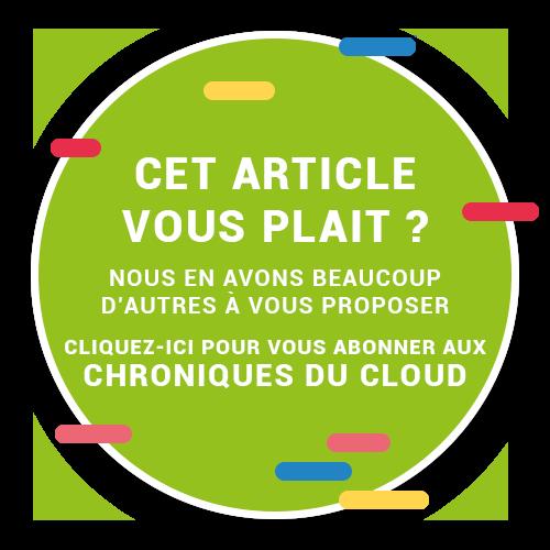 Macaron de souscription aux Chroniques du Cloud