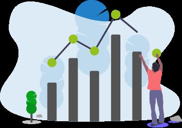 Illustration d'un graphique pour le suivi FinOps