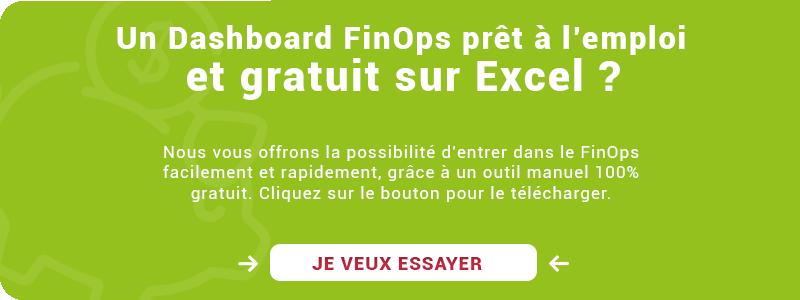 Dashboard FinOps Excel gratuit et 100% manuel
